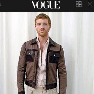 Martin Margiela Leather detailing jacket